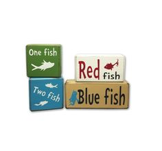 Dr. Seuss one fish two fish red fish blue fish classic children's book decor grinch cat in the hat Seuss colors counting playroom accessory