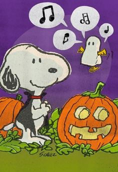 Snoopy and Woodstock  Wish You Tweets Halloween Card | Woodstock and Snoopy are here to give you punny wishes for a lot of tweets this Halloween! Send this fun and playful Halloween card from Hallmark to all of your trickster friends!