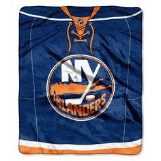New York Islanders Blanket 50x60 Raschel Jersey Design