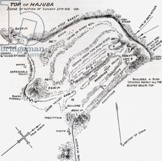 Map Of Scene Of Action During The Battle Of Majuba Hill Near Volksrust South Africa During The First Boer War From The Book South Africa And The Transvaal War Volume 1 By Louis Creswicke Published 190 Giclee Print, Print Map, Boat Plans, African History, Military History, Find Art, Framed Artwork, South Africa, Battle