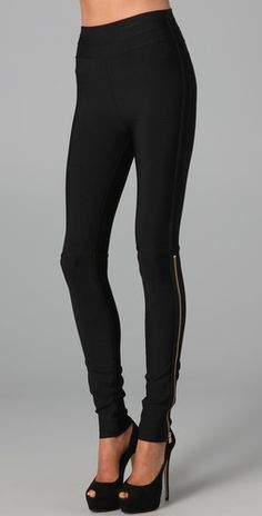 Herve Leger Zip Up Leggings ($1150)