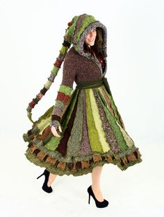 Forest Elf Coat - A Woodland Fairy Inspired Dream Coat - Reserved for Jane. $473.00, via Etsy. ~ I need this coat.