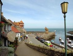 The Exmoor coast is dotted with lovely harbours, such as here at Lynmouth.