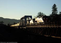 RailPictures.Net Photo: CORP 4073 Central Oregon & Pacific Railroad EMD SD40T-2 at Gold Hill, Oregon by Michael Biehn