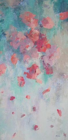 Floating Flowers Painting Chris Hobel