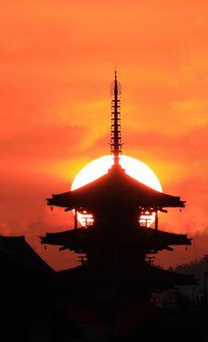 Houryuji-temple. Nara. Japan. 奈良 法隆寺