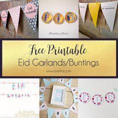 List of Free printable Eid garlands and buntings (eid mubarak banners)