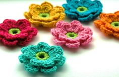 Crochet Flowers    See my profile for details :)