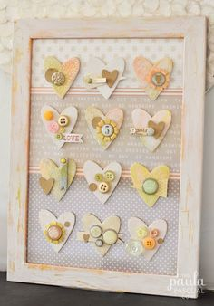 #papercraft #homedecor Paula Pascual: Heart Frame using the new Sizzix Big Shot Starter Kit
