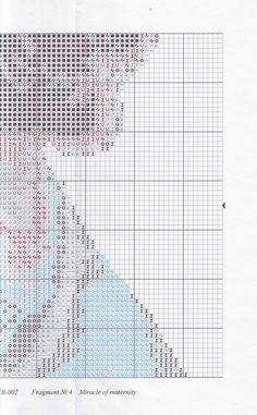 """Скачать схему вышивки """"Золотое руно"""" Серия: Свет жизни СВ-002 """"Чудо материнства"""" Pitchers Of Flowers, Cross Stitch, Map, Embroidery, Portugal, Window, Punto De Cruz, Dots, Patterns"""