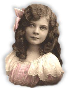 niña vintage en formato png