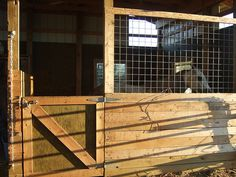 Hand built horse stalls~I think Shane could improve on this!