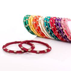 Silk Thread Bangles - Flower Beads | #Wedtree #JewelryGifts #OnlineWeddingShopping