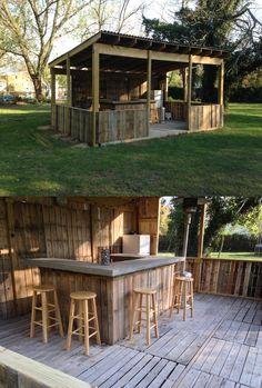 Pallet bar outdoor bar from pallets, bar made from pallets, pallet bar