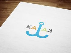 Summer is coming, so I created logo for company that's renting kayaks. The word kayak (in czech kajak) is palindrome, that means you can read it the same way both ways, and I used this characteristic to create the logo.