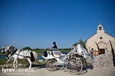 pastel old world themed wedding, bella donna chapel, adriatica, mckinney, texas, horse carriage, bride arrival.