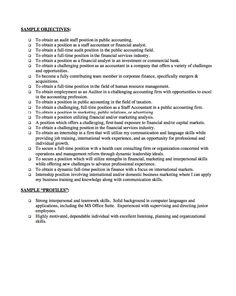 professional objective statement for resumes