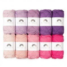 We are excited to present the heavier version of our bestselling cotton yarn Rainbow Cotton . Rainbow Cotton is an 8 ply DK weight whereas the classic version is 4 ply fingering weight. Knit Or Crochet, Crochet Stitches, Crochet Patterns, Stitch Counter, Cheap Yarn, Yarn Color Combinations, Wool Shop, I Love This Yarn, Yarn Ball