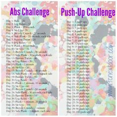 Fit Chick's 30 Day Ab & Push-Up Challenge!