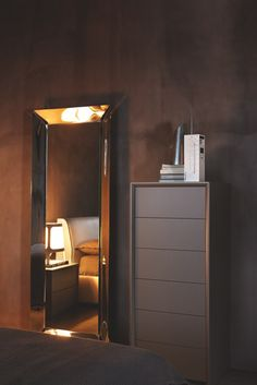 PASSWORD is a minimalist wooden bedroom chest with clean modern lines. The 6 smooth handle-less drawers feature a handy push-pull opening mechanism. Bedroom Chest, Bedroom Furniture, Wooden Bedroom, Tall Boys, Kitchens And Bedrooms, Living Spaces, Living Room, Italian Furniture, Contemporary