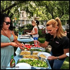 Lunch is served at Convent Garden  : thank you community for feeding our team who brought the garden products to your garden! #GMCNYC