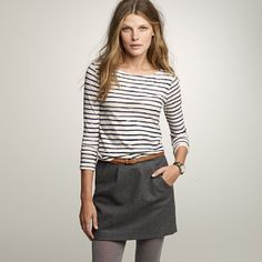 Nautical stripe shirt outfit, gray. - #nautical