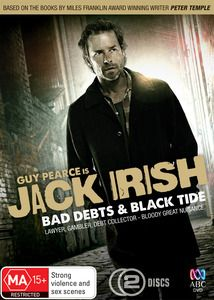 Jack Irish ---- Jack Irish is a series of Australian television movies adapted from the detective novels by Peter Temple.[2] The series stars Guy Pearce in the lead role of Jack Irish, a former criminal lawyer turned private investigator and debt collector.