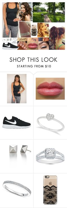 """""""Walk in the Park"""" by samanthanicole39 ❤ liked on Polyvore featuring NIKE, Allurez, Gabriella and Casetify"""