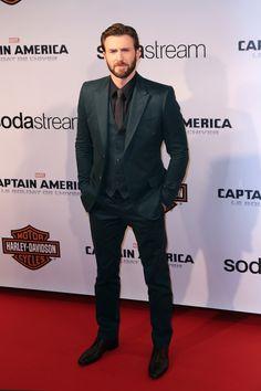 Chris Evans at Paris premiere of Captain America: The Winter Soldier