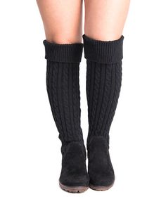 This Black Kelby Over-The-Knee Boot - Women by MUK LUKS is perfect! #zulilyfinds