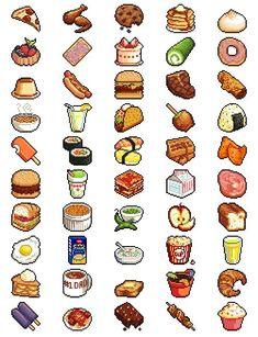manstiel-geek: pixel food - http://CIPATER.NET