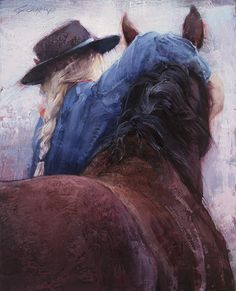 Love Pat , oil, 20 x 16 inches, 2016 Painting Of Girl, Painting People, Painting Inspiration, Art Inspo, Ride Drawing, Arte Equina, Horse Artwork, Horse Drawings, Equine Art