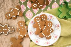 Soft Gingerbread Cookies--I used a hand mixer instead of a food processor and sprinkled the tops with a little sugar before baking instead of using icing but they were a huge hit!