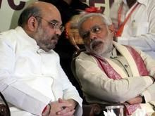 BJP president Amit Shah and Prime Minister Narendra Modi during the BJP National Executive committee meeting in Bengaluru on Friday. Photo: G.R.N. Somashekar