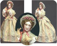 cindy gates miniature dolls, perfect for an antique dollshouse