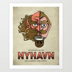 Nyhavn I Art Print by copenhagen poster - $17.68