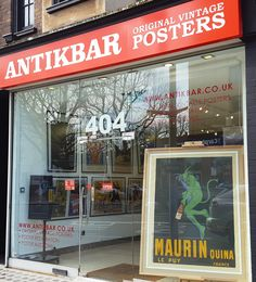 Spring sunshine in London! Visit our gallery at 404 King's Road or view our original vintage posters online at http://www.antikbar.co.uk/: travel, advertising, cinema, war, propaganda, sport from around the world. We offer worldwide delivery and provide poster restoration services with our partners at Poster Mountain. Our next original vintage poster auction will be held on 22 April. Visit our gallery or our website for more information: AntikBar, 404 King's Road, London SW10 0LJ…
