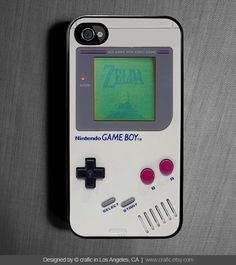 By far the most awesome old school gamer case I've seen to date  iPhone 4 case iPhone 4s case - Classic Gameboy iPhone Case - SALE. $17.99, via Etsy.