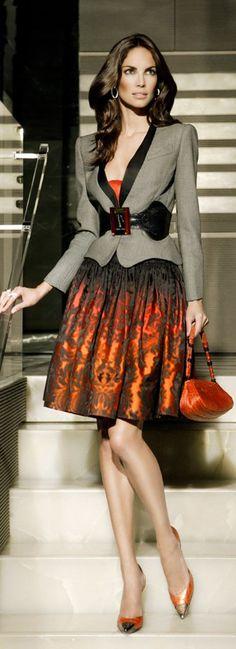 elegant formal orange cocktail dress #glam