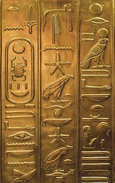 Ancient Egypt ©: Egyptian Hieroglyphics Replica from the Tutankhamun Exhibition currently at Brussels. Ancient Aliens, Ancient History, Objets Antiques, Art Ancien, Art Antique, Egypt Art, Ancient Artifacts, Ancient Civilizations, Archaeology