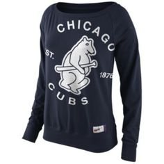 Nike Chicago Cubs Fleece Top - Women's