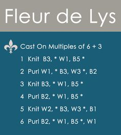 How to Knit the FLEUR DE LYS Pattern | 2 Stranded Colorwork