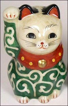 Vintage porcelain Maneki Neko