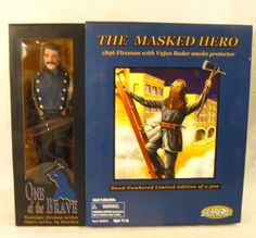 The Masked Hero 1896 Fireman Vajen Bader Smoke Protector Action Figure Gearbox