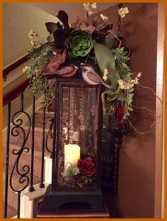 Creative Fall Lantern Decor Ideas To Get Unique Look in Your Home Fall Lanterns, Christmas Lanterns, Lanterns Decor, Christmas Decorations, Christmas Tables, Tuscany Decor, Tuscan House, Mediterranean Home Decor, Tuscan Decorating