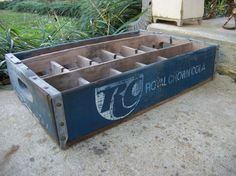 Blue beverage crate coke crate soda crate by deepsouthtreasures, $25.00