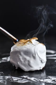 Meringue Encased Chocolate Mousse S'more Cakes | halfbakedharvest.com @Heather Flores Baked Harvest