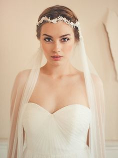 The Beautiful Jannie Baltzer Collection 2015: Headpieces, Veils & Cuffs see more at http://www.wantthatwedding.co.uk/2014/10/20/the-beautiful-jannie-baltzer-collection-2015-headpieces-veils-cuffs/