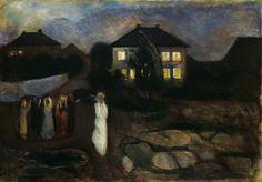 Edvard Munch (Norwegian, 1863-1944), The Storm, 1893. Oil on canvas, 91.8 x 130.8 cm.