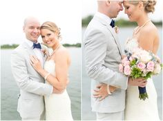 Dallas wedding photographer, Mary Fields Photography, outdoor bride and groom wedding pictures, lace wedding dress, gray groom tuxedo with blue bow tie, pink and white bridal bouquet  View More: http://maryfieldsphotography.pass.us/oyler-wedding-9-13-14